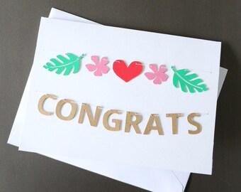 Mini Banner Card 'Congrats'