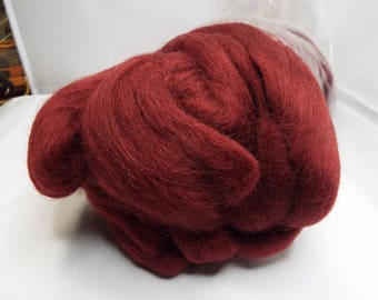 Corriedale, dyed Warm Wine, Louet fibers, 225 grams, Fiber, spinning fiber, spindle spinning, spinning, roving, top, Threadsthrutime
