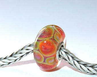 Luccicare Lampwork Bead - Opal IV -  Lined with Sterling Silver