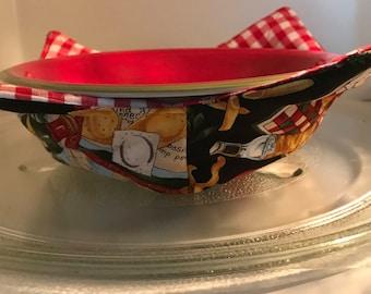 Microwavable bowl cozy, Italian fare