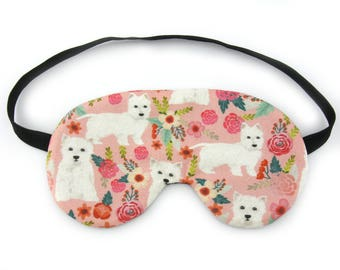 West Highland Terrier Dog Sleep Mask ,Sleeping Mask, Travel Mask, Eye Mask, Sleep Mask, Travel Gift, Fun Gift, Dog Lover Gift