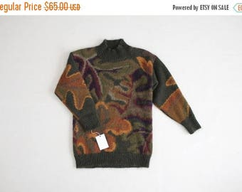 25% OFF SALE oversized mohair sweater | abstract sweater | fuzzy sweater