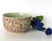 Serving Bowl - Dip Bowl - Small Bowl - Ceramic Bowl - Dragonflies - Hand Made Stoneware Bowl