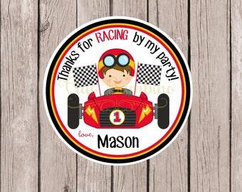 Race Car Stickers Etsy