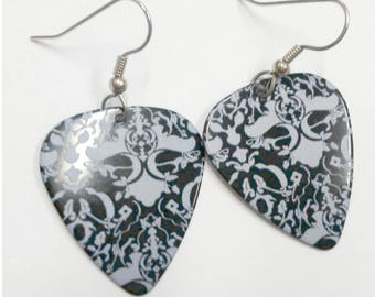 Victorian Lace guitar pick earrings
