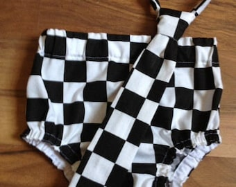 Reserved for laurenrw6 Diaper CoverBlack/White Checked Photography Prop, Dressy Baby Boy