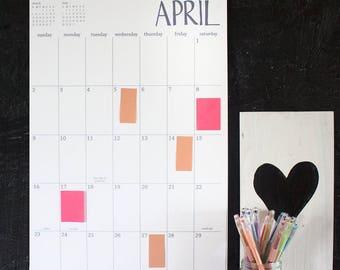 large wall calendar - 18 months