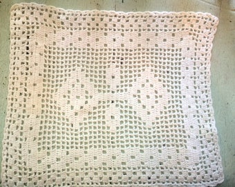 Pair of Vintage Crocheted Linens