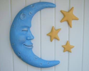 Moon wall decor   Etsy