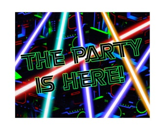 Laser Tag Party Sign 11x14 Sign Instant Download
