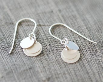 "bridesmaid earrings silver – brushed sterling silver earrings, bridesmaid gift, bridal jewelry, silver wedding jewelry – ""dolce"" earrings"