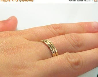 SALE - Gold stacking rings, gold rings, set of 3 14k goldfilled rings, stackable jewelry, gold filled jewelry