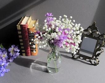 Vintage Carafe, Rustic Vase, Milk Bottle, Rustic Wedding Vase, Farmhouse  Decor, Clear Glass Carafe