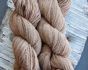 Baby Alpaca Yarn Worsted Weight 200 yards 3.0 ounces Fawn  3 Ply Knit Crochet Weave DIY Handmade