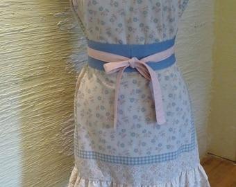 Pillowcase Dress, Handmade Dress, Vintage Pillowcase, Handmade Obi Belt, Eyelet Lace Trim, Unique Clothing, Strapless Dress, Hippie Boho