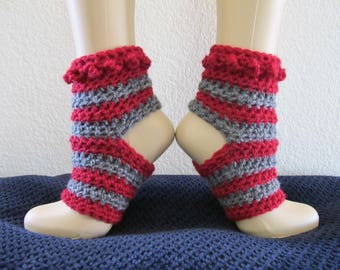 Striped Yoga Socks - Ankle Warmers - PDF Crochet Pattern
