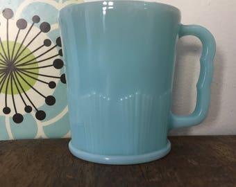 Vintage Pyrex Delphite Mug Pie Crust Pattern Coffee Cup Pistol Grip Robins Egg Blue Canada