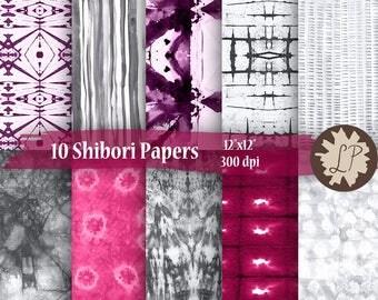 DIY PRINTABLE paper, silver shibori, 12x12 multicoloured Digital paper - Commercial Use - scrapbook paper, wedding invitations, etsy banners