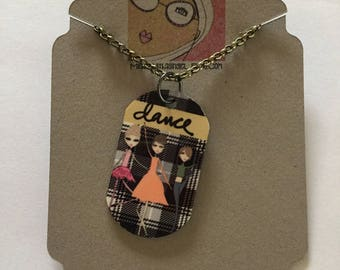 Necklace - Dog tag necklace - Dance