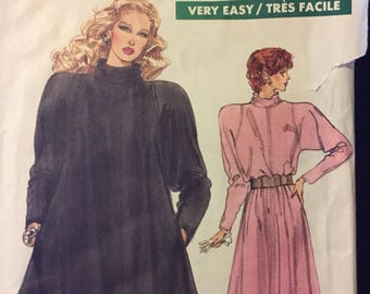 Vintage Vogue Dress, Tunic, and Skirt Sewing Pattern Vogue 7034  Misses'  Size 8-12 Bust 30-34 inches Complete