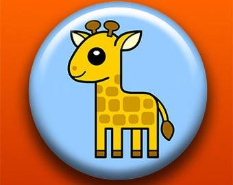 Giraffe - Pin, Button, Magnet, Bottle Opener, Pocket Mirror, Keychain   Cute Animal   Giraffe Gift