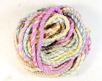 candy crush 7   ... handspun yarn set, weaving creative yarn bundle, hand spun, hand dyed yarn, handspun art yarn