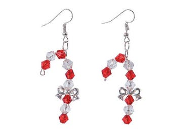 Candy Cane Bow Earrings