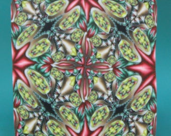 Square Kaleidoscope Polymer Clay Cane -'Spice Garden' series (22D)