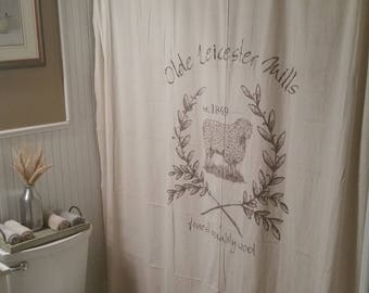 Custom Canvas Fabric Window Or Bath Shower Curtain