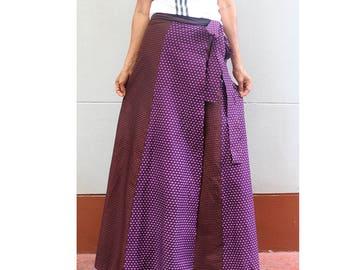Handmade 8 Pieces floral Thai batik Sarong patchwork long comfortable  wear wrap skirt fit all size (BT 07)