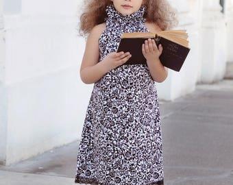 SALE High collared sleeveless girls dress pattern sizes 0m - 12 girls Instant