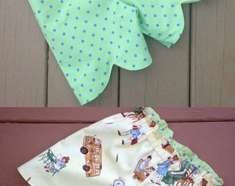 SALE Reversible Scalloped Shorts Pattern for Girls sizes 12m - 16 girls PDF  Instant