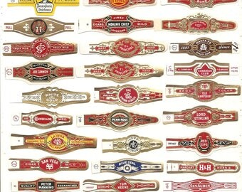 410 CIGAR BAND Labels -new old stock cigar bands 1930s+++  Due to the continuing Ofac sanctions against Cuba origin of labels ALL from u.s.