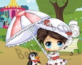 Mary Poppins Cutie Printed Panel