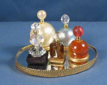 Minature Perfume Tray and Bottles - Barbie Sized