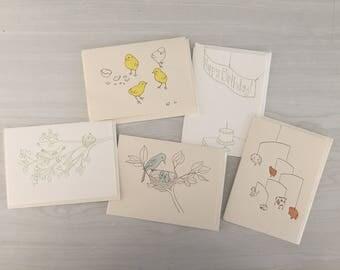 Letterpressed Card Set
