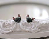 Siamese Kitty cats  Earrings cute kawaii