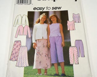 Simplicity Girls' Top, Jacket, Skirt And Pants Pattern 8550 Size 7, 8, 10  Easy To Sew