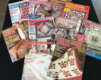 Lot of 10 Vintage Lady's Circle Patchwork Quilts Magazine Back Issues from 1988-89