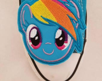 Rainbow dash inspired shoe toe charms (finished item)