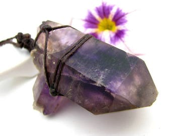 Genuine Brandberg Amethyst, Amethyst Necklace, Collectors item, Healing stones, crystal healing, Africa stones, Rare, Collector, Purple