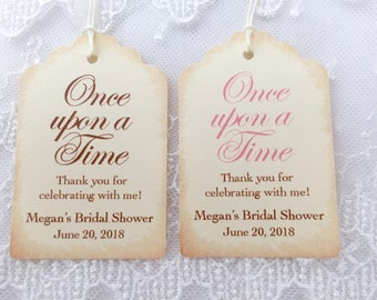 Once upon a Time Tags, Once upon a Time Bridal Shower Tags, Fairytale Tags, Storybook Tags, Set of 10