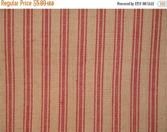 SALE SALE SALE Ticking Material | Red Stripe Material | Homespun Material | Homespun Ticking |  Quilt Material | Sewing Material | 31 x 44