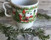 Vintage Porcelain Mug - Japan Christmas - 1960s Stacking Mug