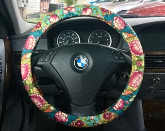 Boho Colorful Patchwork Steering Wheel Cover