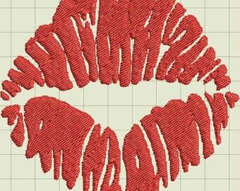 Lips Embroidery Design Trio