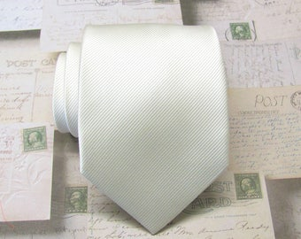 Ivory Ties Ivory Stripes Necktie With Matching Pocket Square Option