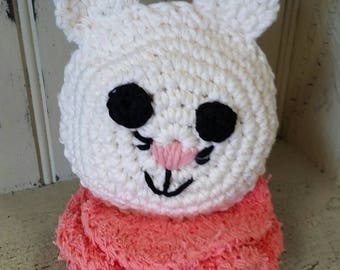 Kitty Bath Scrubby- Crochet, Bath, kids,scrubby,kitten,bath mitt, tubtime,tub toy, gift idea, shower gift, bath tub toy, kitten scrubby,cat