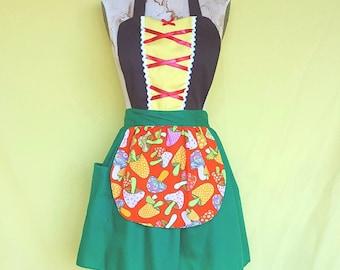 Gnome costume  apron, Woodland apron, women's costume apron, Halloween costume apron, fast and easy costume, teacher costume, aprons