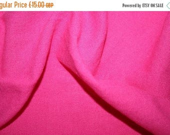 SUMMER SALE Special offer! Cerise pink linen/cotton fabric 3 metre length